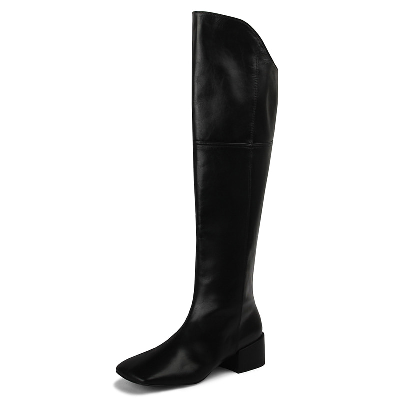 knee high boots_Bell R2306b_4cm